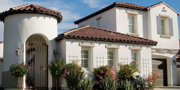 stucco plaster or sandstone these color schemes will highlight many of the key features of a desert style home ironwork terracotta roof tiles - Stucco Exterior Colors